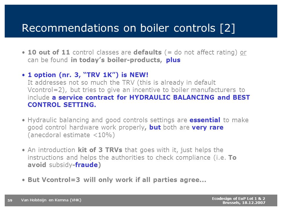 Recommendations on boiler controls [2]